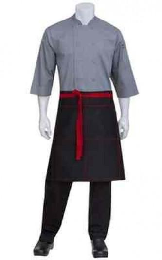 Black Apron 3/4 with ties