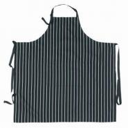 Apron Bib Black Stripe with Pocket