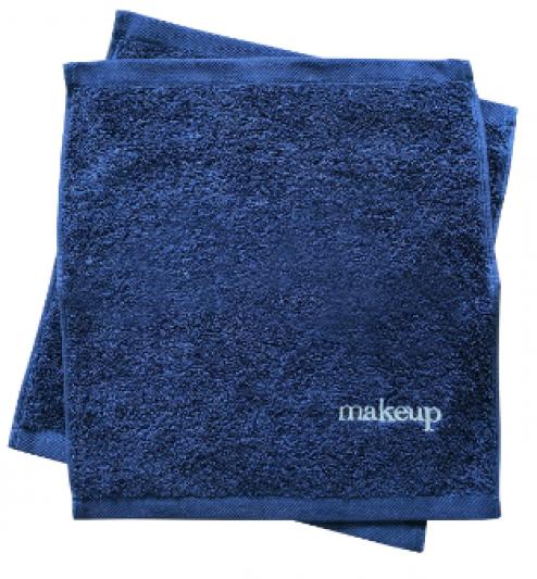 Navy Makeup Towel