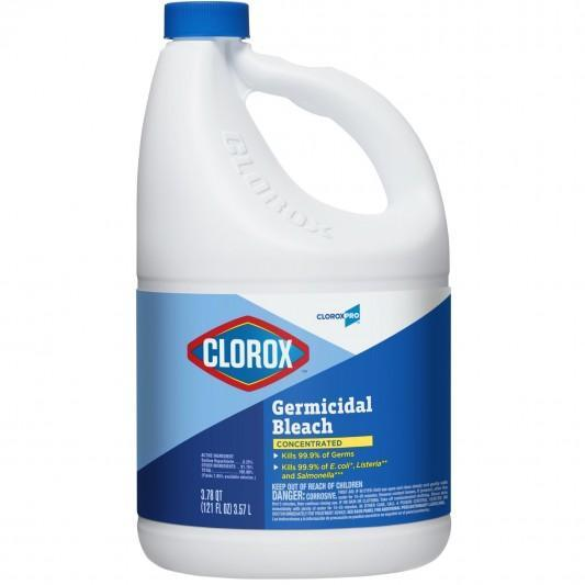 Clorox Concentrated Germicidal Bleach General Cleaner 121 Oz