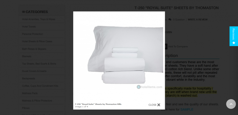 T 250 Royal Suite Sheets by Thomaston Mills