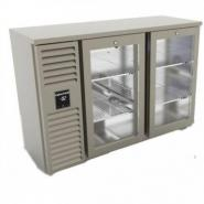 CyberChill BBS 220 Double Door Back Bar Heavy Duty Bottle Cooler With 2 Shelves 520mm