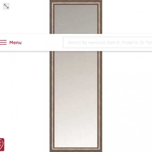 Contemporary Framed Mirror Satin Silver 18x60