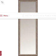 Contemporary Framed Mirror Satin Silver 18x60