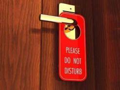 Do Not Disturb Card