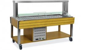 Buffet Counter with Sneeze Guard