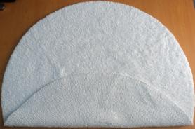 Round Reversible Hotel Bath Mat