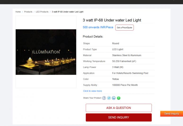 3 watt IP-68 Under water Led Light