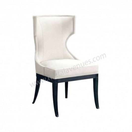 Fully Upholstered half arm sofa chair