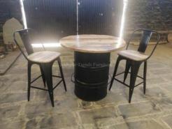 Jodhpur Trends Black Colour Industrial Bar Stool