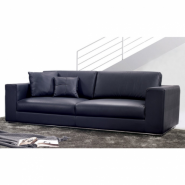 RNG Onyx Leather 3 Seater Sofa
