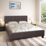 Engineered Wood Fabric Upholstered Queen Size Bed