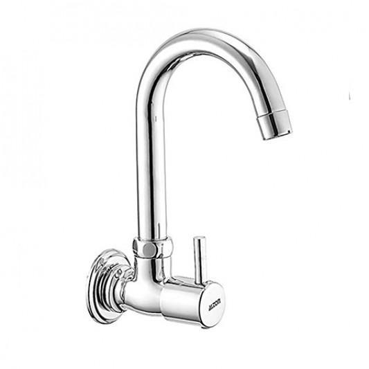 ALTON Dew 3765 Brass Sink Cock With Swinging Spout/Wall Mount (Chrome)