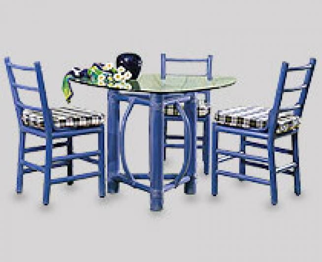 Dining Furniture Tacuba Chairs, Around a Cocos 3 Legged Rectangle Table