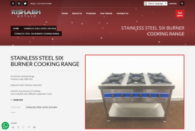STAINLESS STEEL SIX BURNER COOKING RANGE