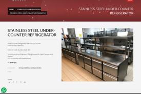 STAINLESS STEEL UNDER-COUNTER REFRIGERATOR