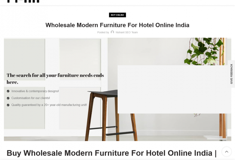 Wholesale Modern Furniture For Hotel Online India