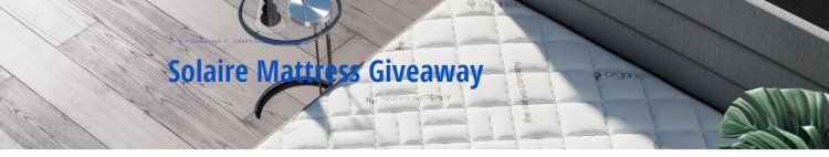Solaire Mattress Giveaway
