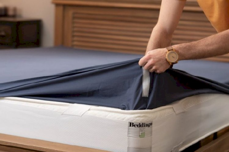 New Beddingo sheets use Velcro to stay in place