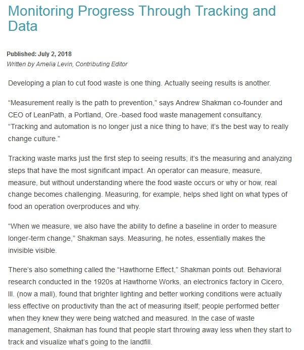 Monitoring Progress Through Tracking and Data