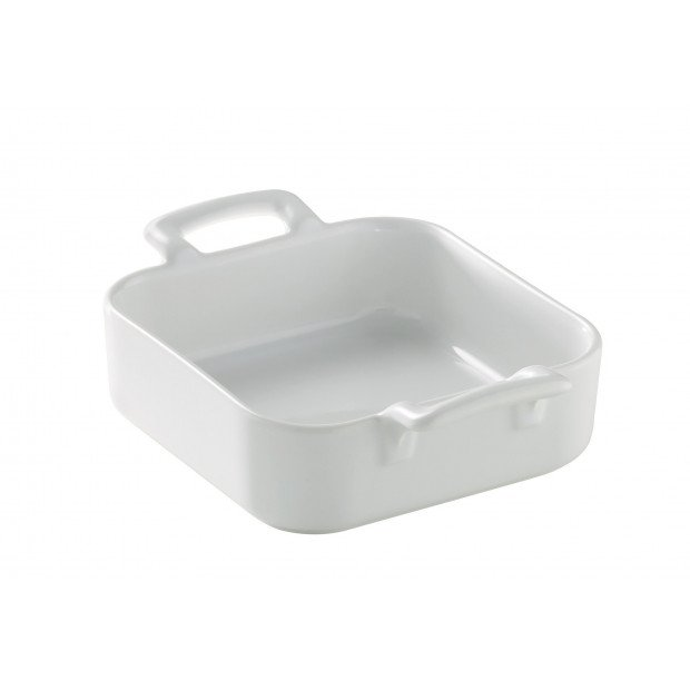 Square baking dishes, Belle Cuisine white. 2 sizes