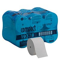 Compact Coreless 2-Ply Recycled Bath Tissue by GP PRO, 1500 Sheets Per Roll