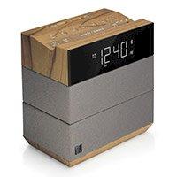 TeleAdapt Sound Rise Alarm Clock w Bluetooth & 2 USB Charging Ports, 5.2Wx5.6Hx3.3D, Wood