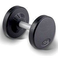 Rubber Pro Dumbbell Set 10 Pairs 5 lbs - 50 lbs