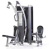 Six-pak Trainer with Leg Station 2-stack, Free Flow Handle Design