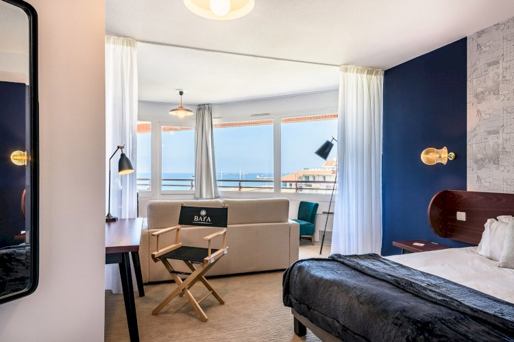 Our decorative wall lights help soften the bedroom suites of this oceanfront hotel
