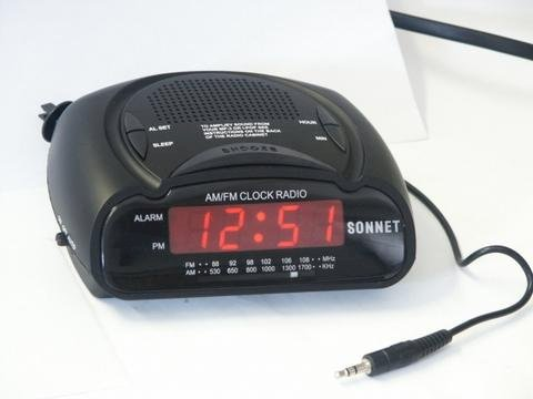 LED Clock Radio w/MP3 Input