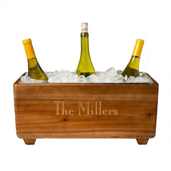 Personalized Wooden Wine Bottle Ice Bucket