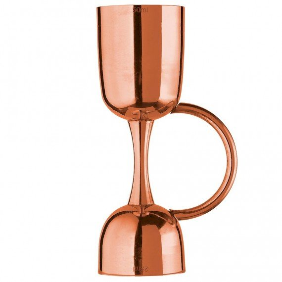 Urban Bar Coley Jigger with Handle - Copper Plated Stainless Steel - 25ml & 50ml
