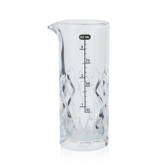 Glass Measuring Jigger with Diamond Weave - 100ml