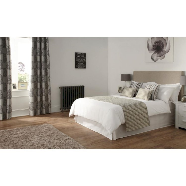 Luxury Reflections Bed Runner Charcoal Pebble