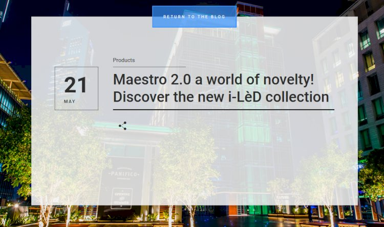 Here we go! Technological news, original products and innovative accessories, now all available in the new Maestro 2.0 catalogue.