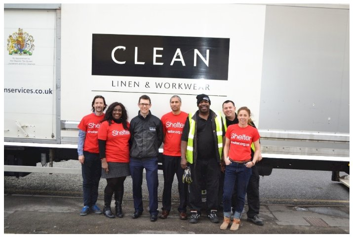 CLEAN donates hotel linen to Shelter