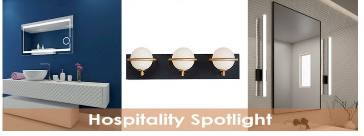 Bath and Vanity Lighting for Hospitality Projects