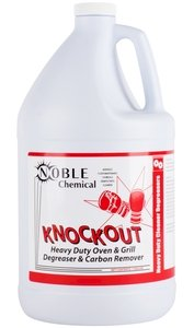 Noble Chemical Knockout liquid heavy duty oven and grill degreaser will keep your equipment running smoothly.