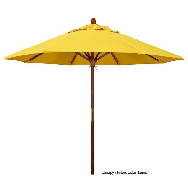 California Umbrella MARE 908 OLEFIN Grove 9' Round Push Lift Umbrella with 1 1/2