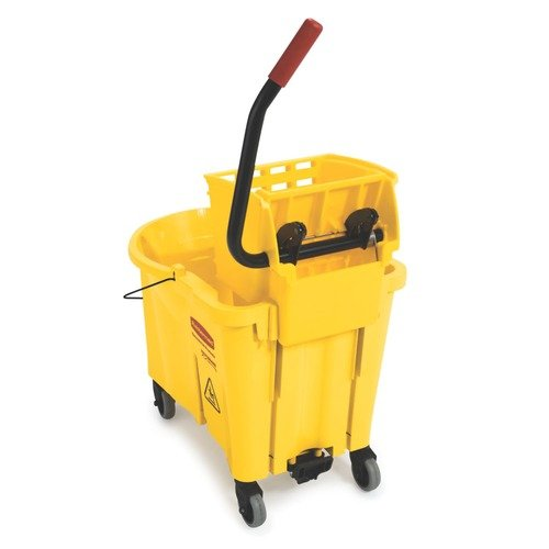 Rubbermaid Commercial Products Side Press Mop Bucket, 44 Qt., Yellow