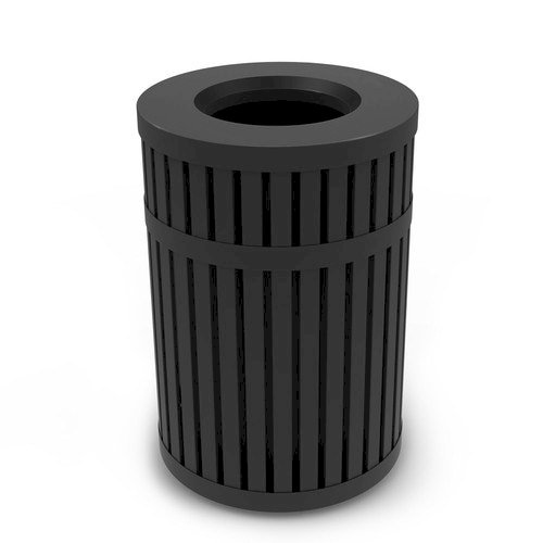 DCI Marketing ArchTec Trash Receptacle, 45 Gal., Black