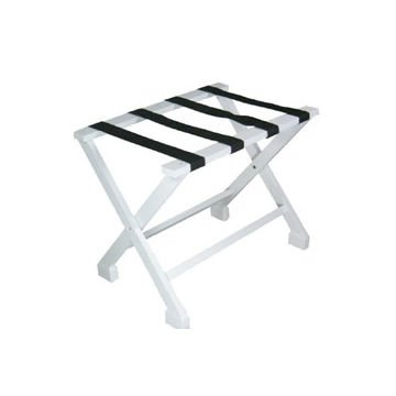 Foldable Wooden White Luggage Rack, Customized Colors Welcomed