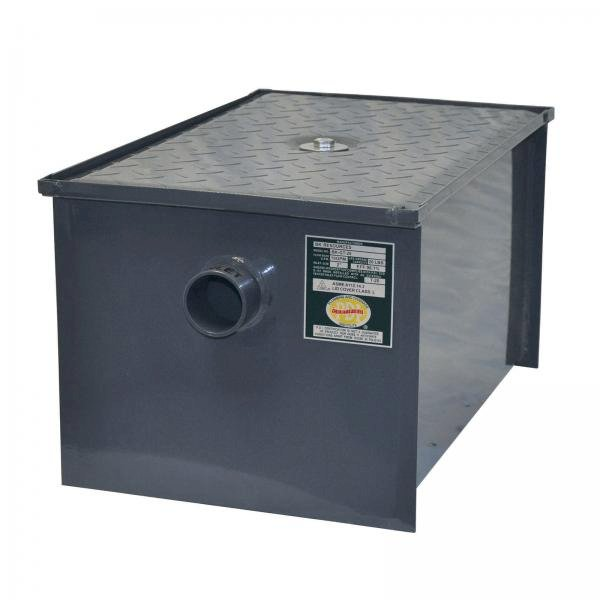 Grease Trap, 70 lbs. grease capacity, 35 gallons per minute, non-skid deck plate, removable