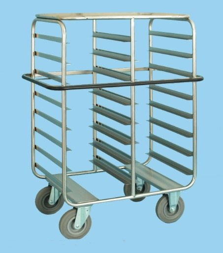 Tray Service Trolley For 16 Trays