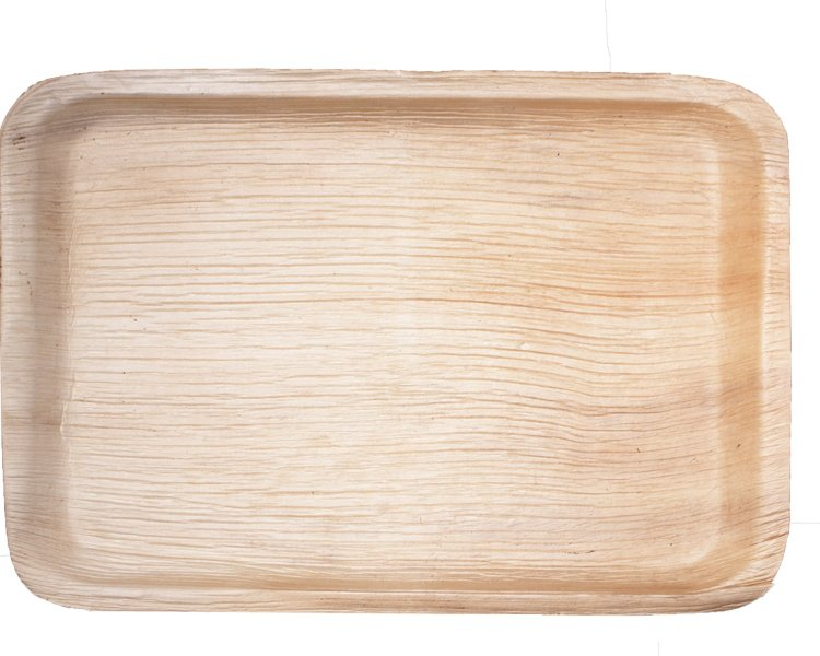 10 x 15.5 Large Palm Leaf Tray (10 count Retail Wholesale Pack)