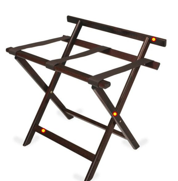 Wood Luggage Racks