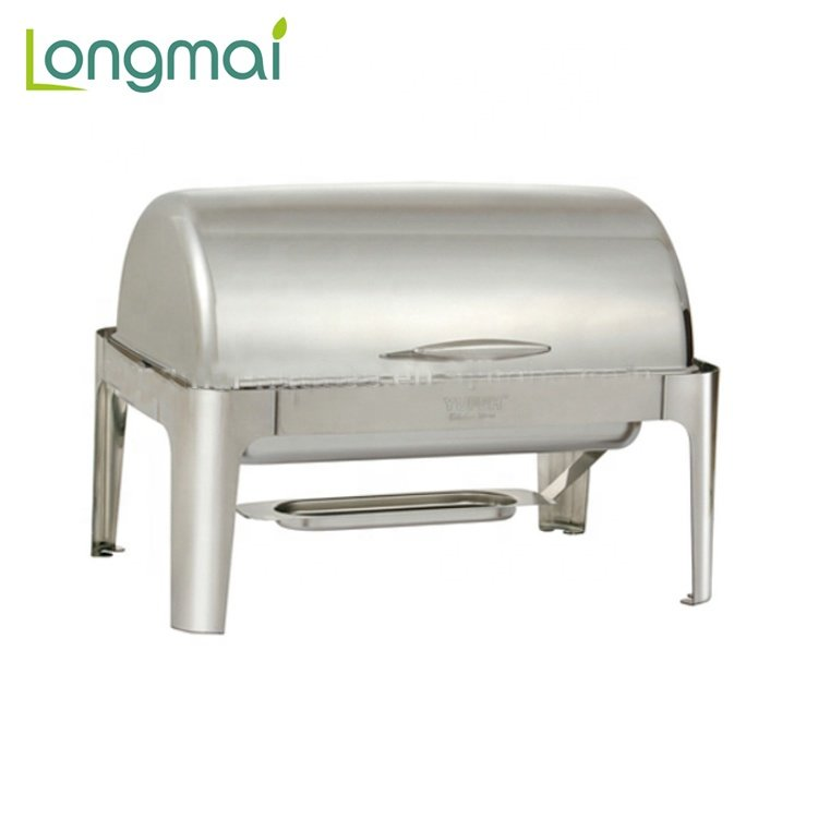 Hot Sale Hotel Equipment Roll Top Electric Food Warmer Chafing Dish for Catering
