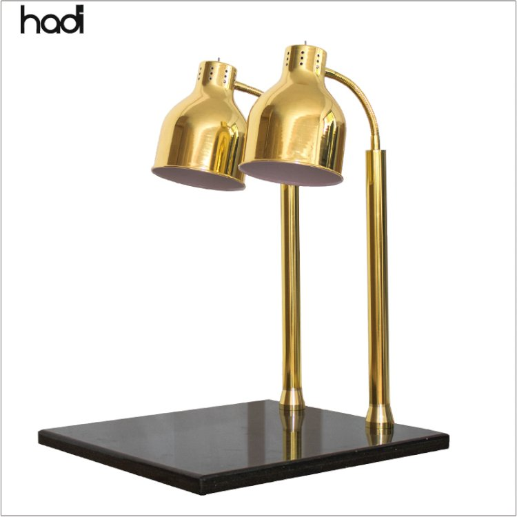Restaurant catering equipment stainless steel electric luxury gold buffet heating food warmer lamp for hotel