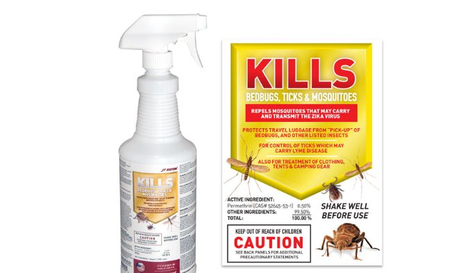 KILLS BEDBUGS, TICKS AND MOSQUITOES INSECTICIDE